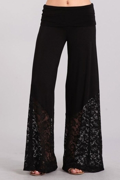 Chatoyant  Lace Contrast Palazzo Pants - Product List Image