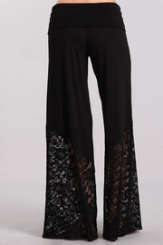 Chatoyant  Lace Contrast Palazzo Pants - Front full body