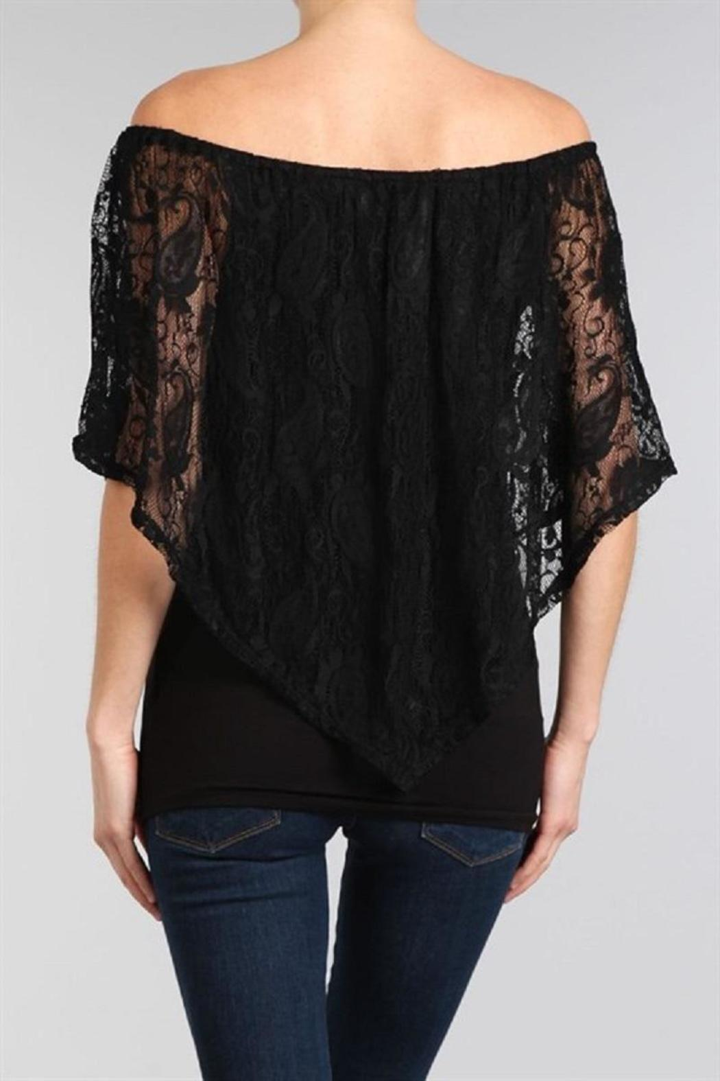 Chatoyant  Lace Convertible Top - Front Full Image