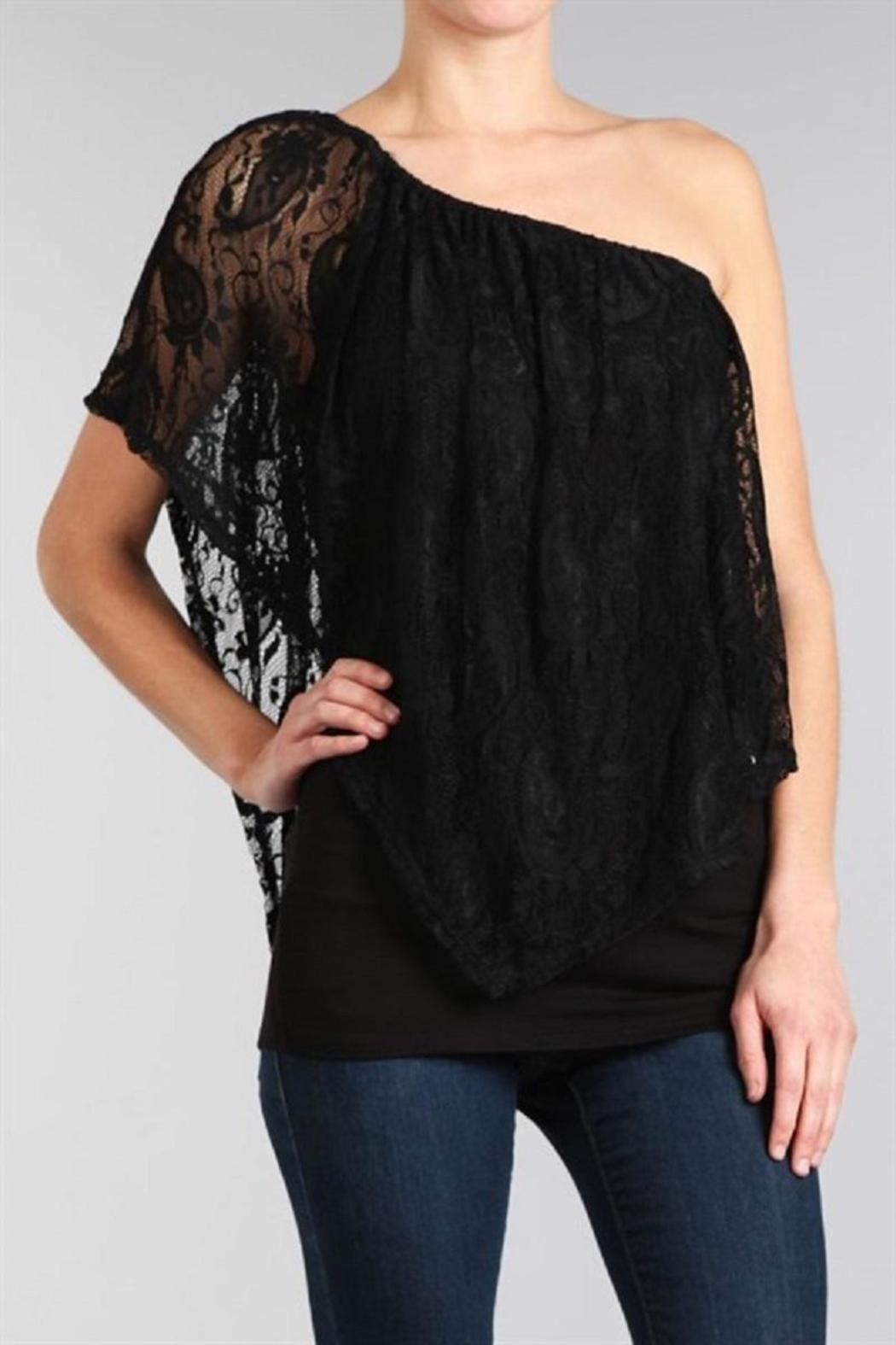 Chatoyant  Lace Convertible Top - Side Cropped Image