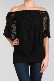 Chatoyant  Lace Convertible Top - Front cropped