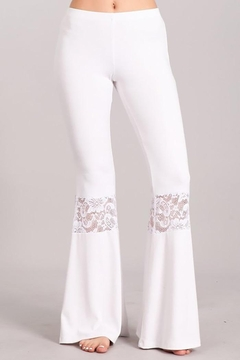 Chatoyant  Lace Inset Bell Pants - Product List Image