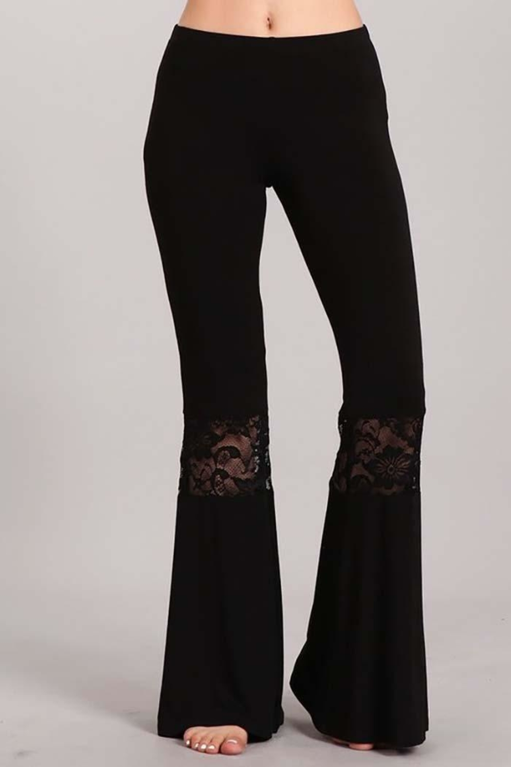 Chatoyant  Lace Inset Bell Pants - Main Image