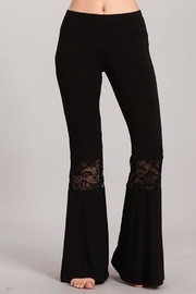 Chatoyant  Lace Inset Bell Pants - Product Mini Image
