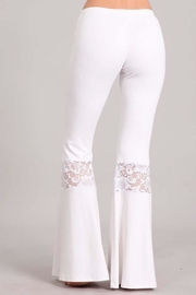 Chatoyant  Lace Inset Bell Pants - Front full body