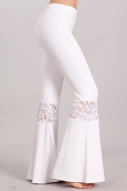 Chatoyant  Lace Inset Bell Pants - Back cropped