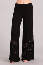 Chatoyant  Lace Inset Palazzo-Pants - Front cropped