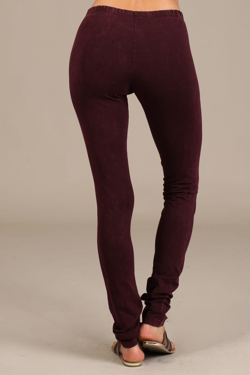 Chatoyant  Mineral Wash Leggings - Back Cropped Image