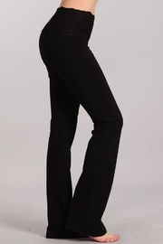 Chatoyant  Stretchy Lace Waistband Pants - Front full body