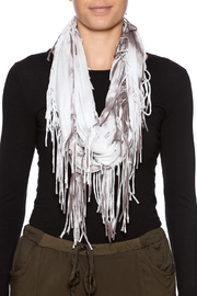 Chatoyant  Tie-Dye Fringe Wrap - Back cropped