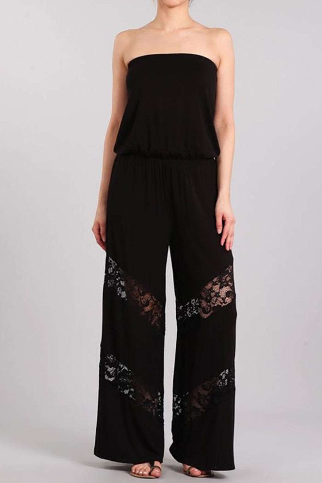 Chatoyant  Wide Leg Jumpsuit - Front Cropped Image