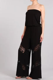 Chatoyant  Wide Leg Tube Jumpsuit Lace Insets - Product Mini Image