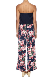 Chatoyant  Wide-Legged Floral Jumpsuit - Back cropped