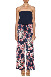Chatoyant  Wide-Legged Floral Jumpsuit - Front cropped