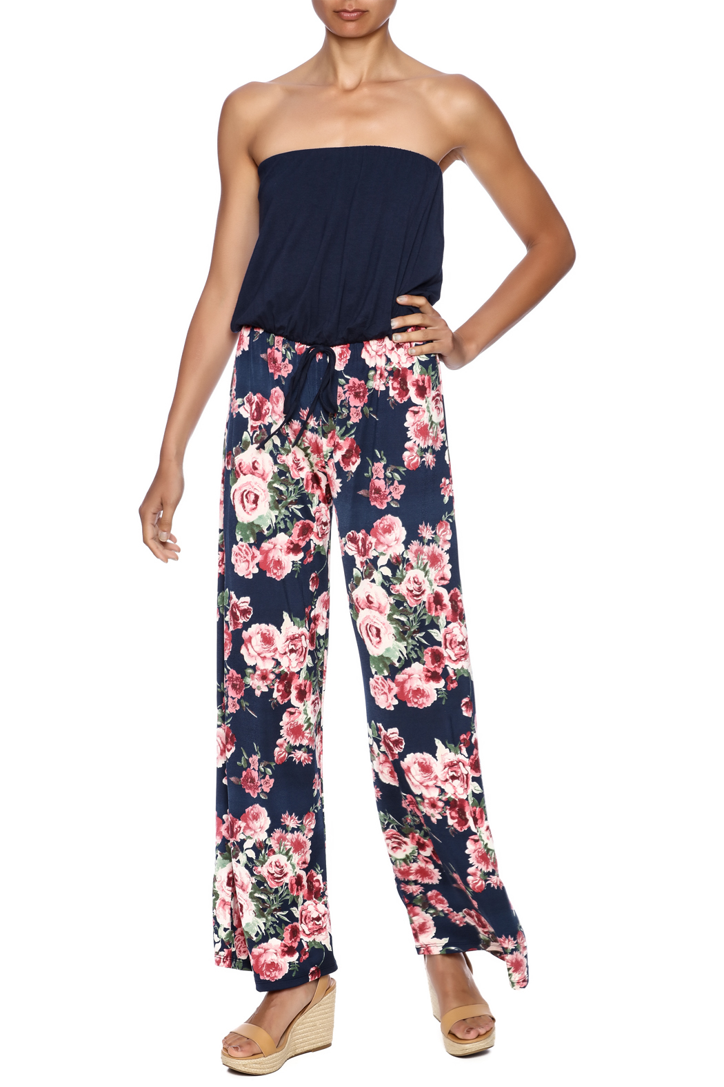Chatoyant  Wide-Legged Floral Jumpsuit - Main Image