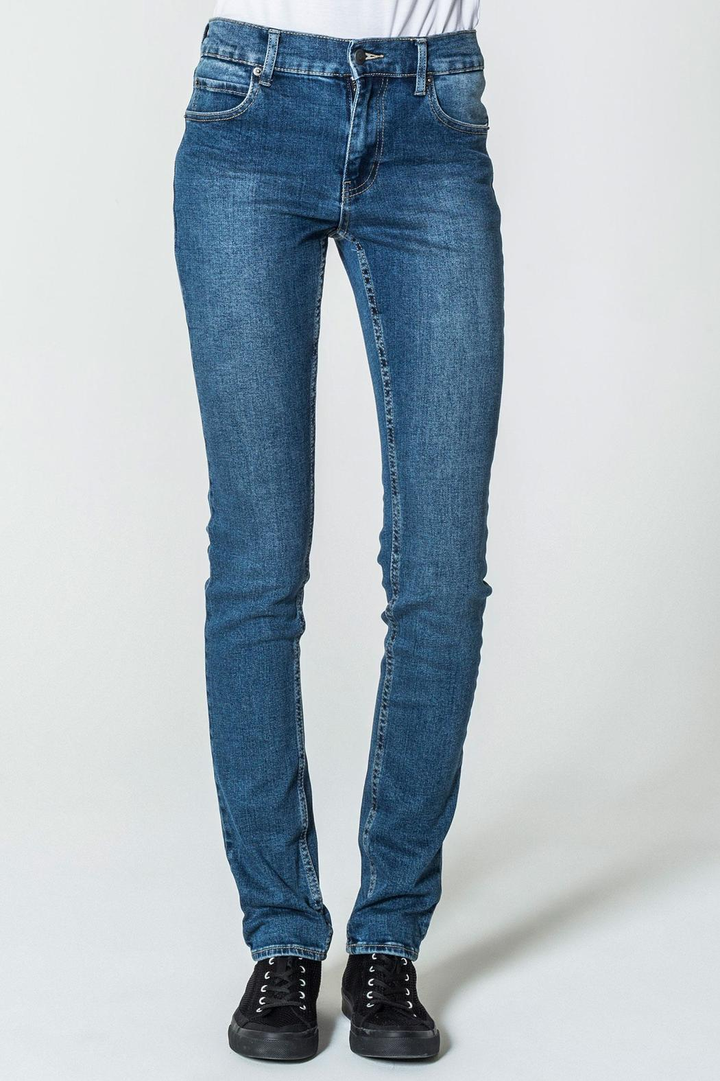 Cheap Monday Base Dark Blue Jeans - Front Cropped Image