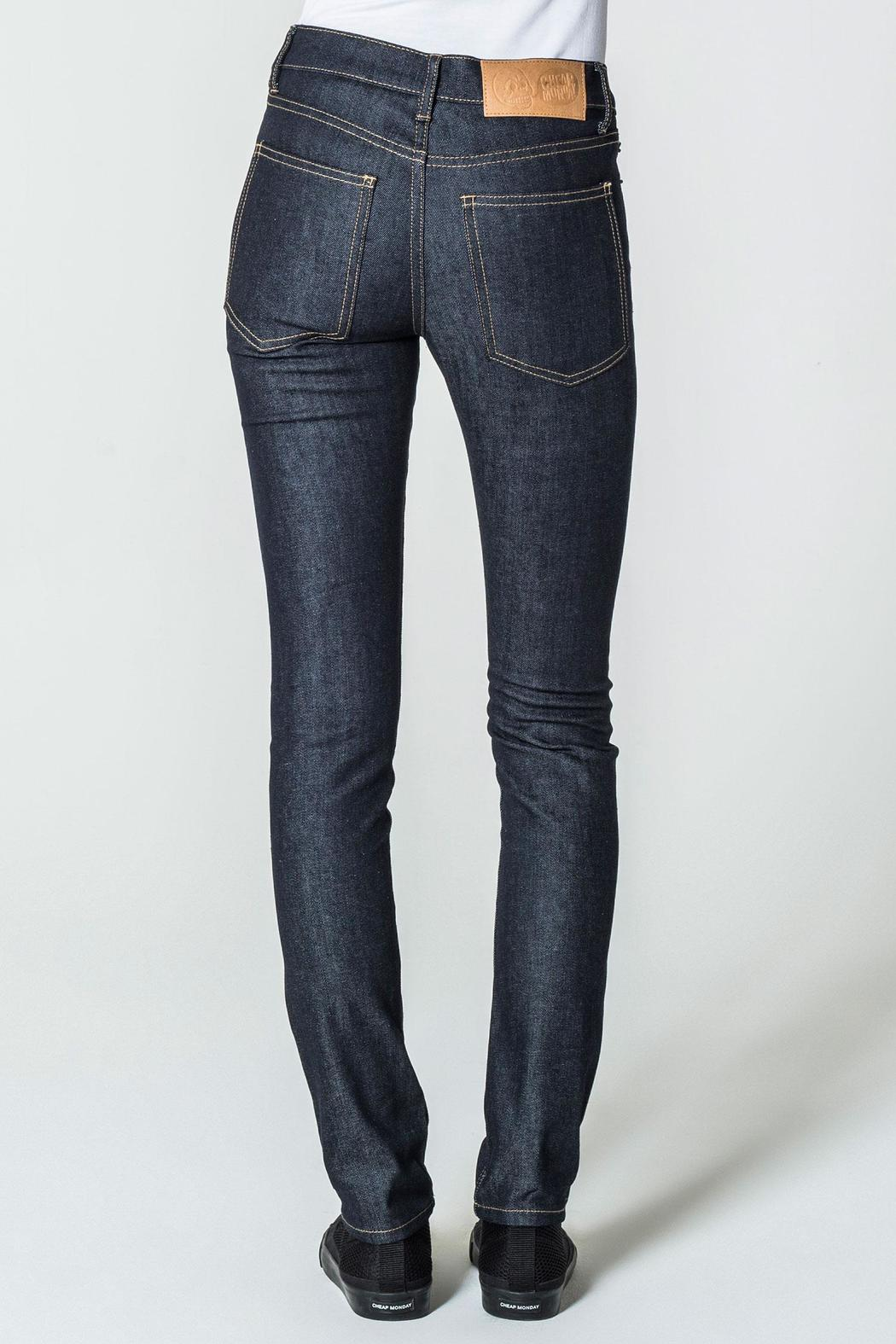 Cheap Monday Blue Dry Jeans - Front Full Image