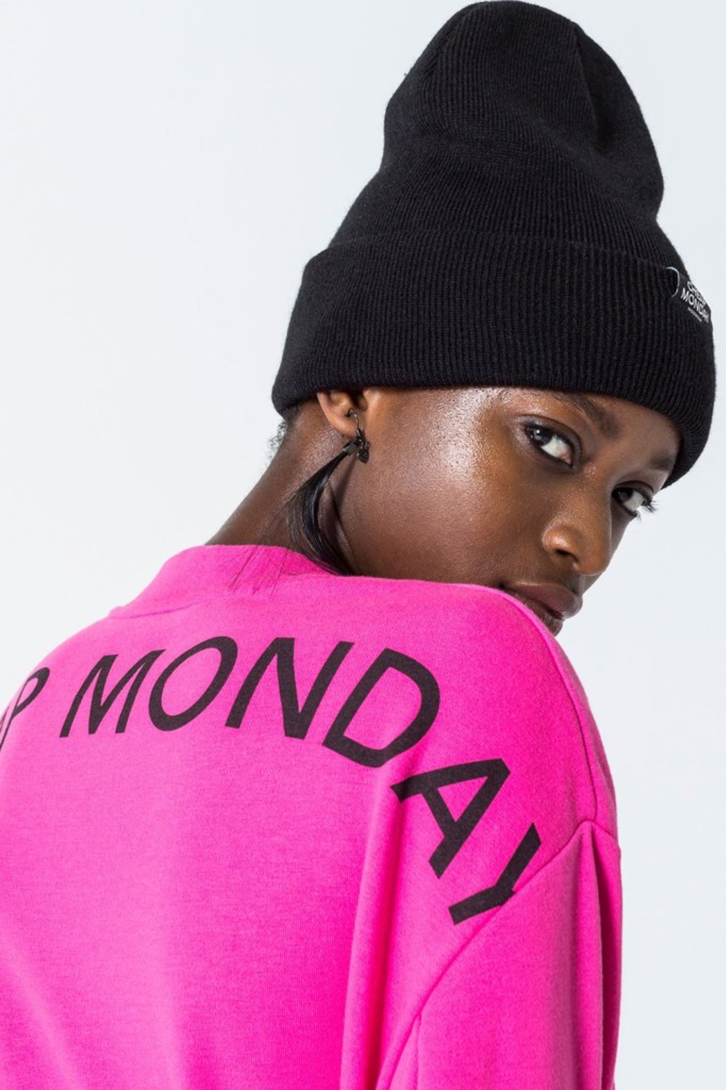 Cheap Monday Con Arched Logo Sweat - Back Cropped Image
