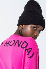 Cheap Monday Con Arched Logo Sweat - Back cropped