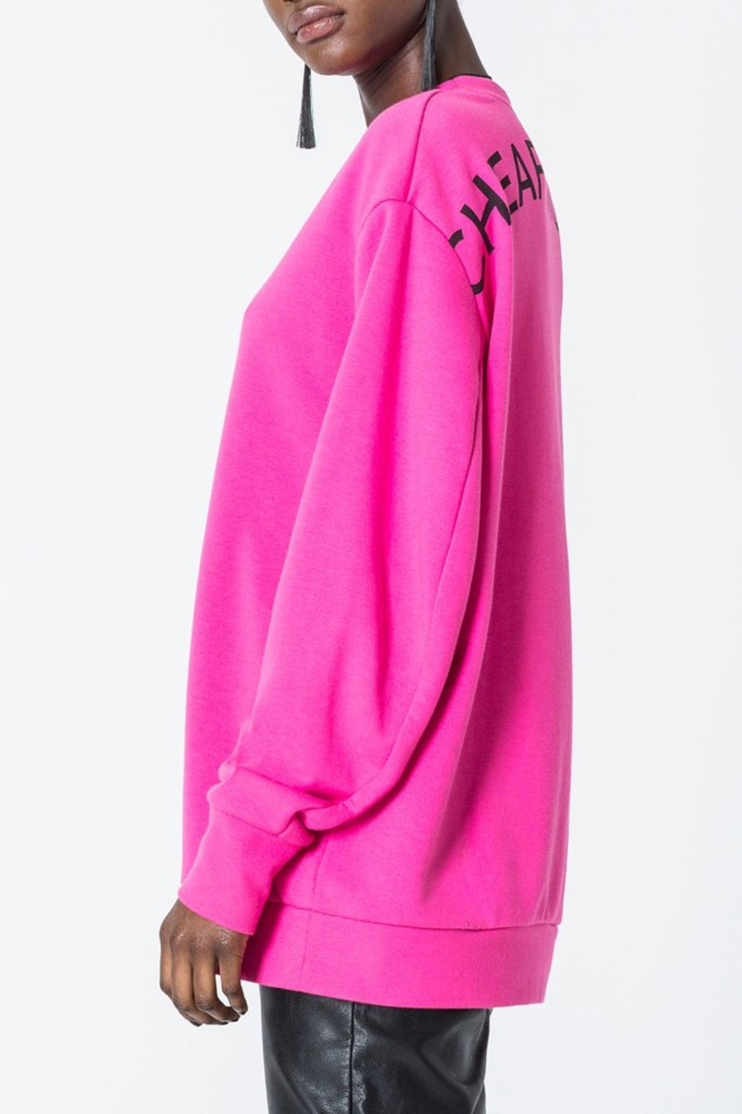 Cheap Monday Con Arched Logo Sweat - Front Full Image