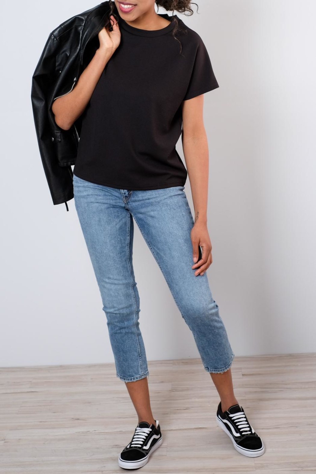 Cheap Monday Distressed Straight Jeans - Back Cropped Image