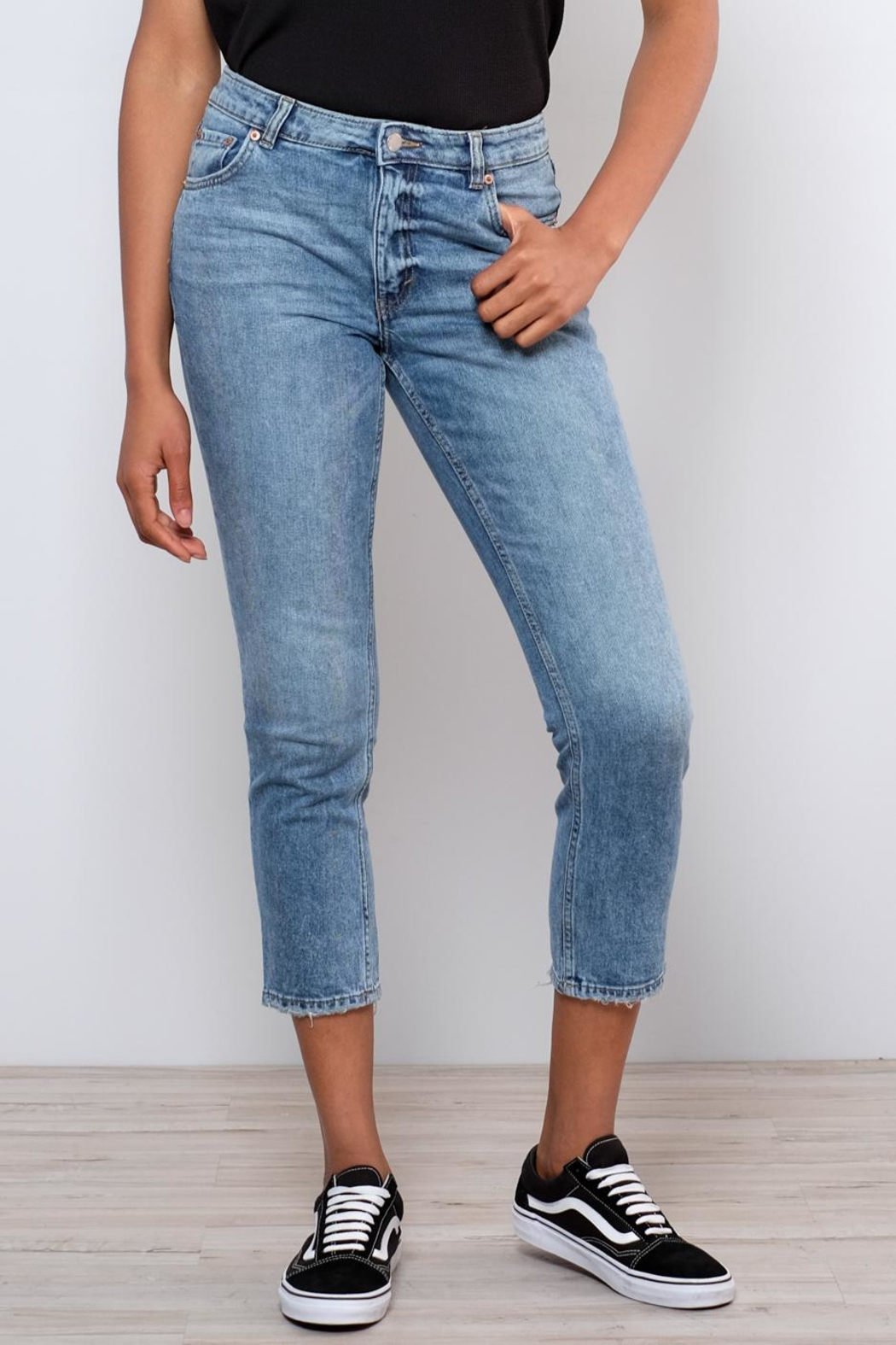 Cheap Monday Distressed Straight Jeans - Main Image