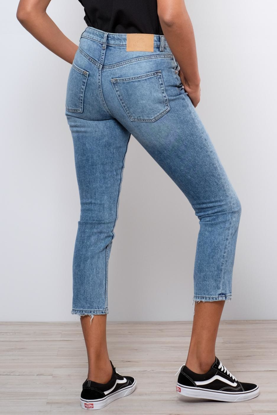 Cheap Monday Distressed Straight Jeans - Side Cropped Image
