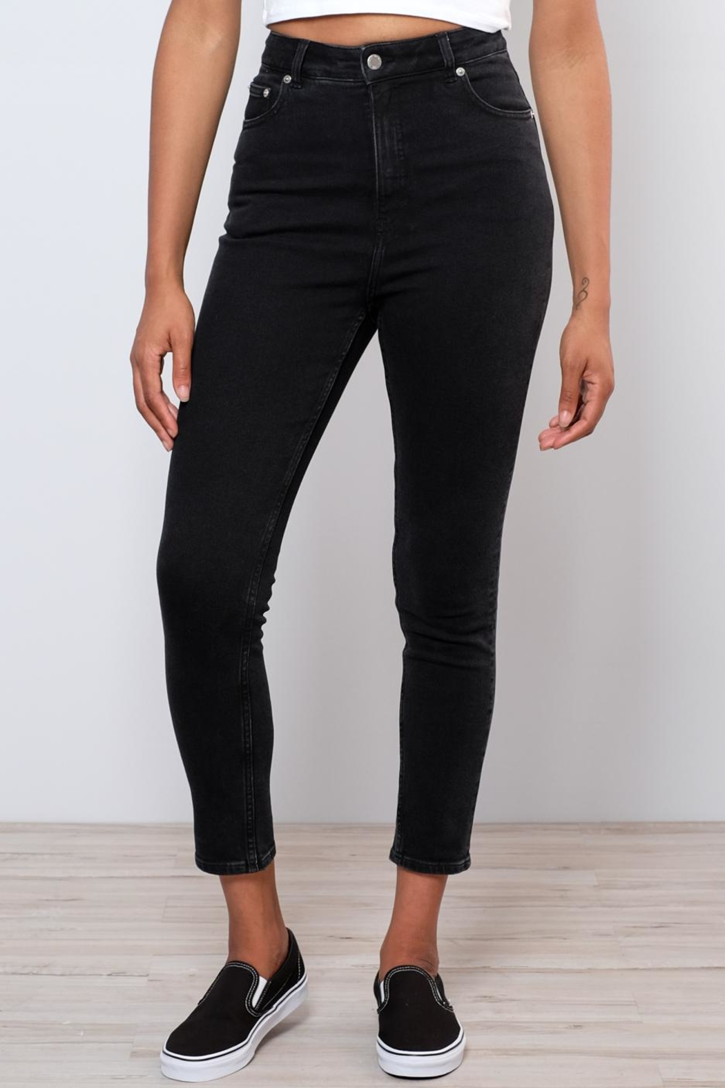 Cheap Monday Donna High Rise Denim - Front Full Image