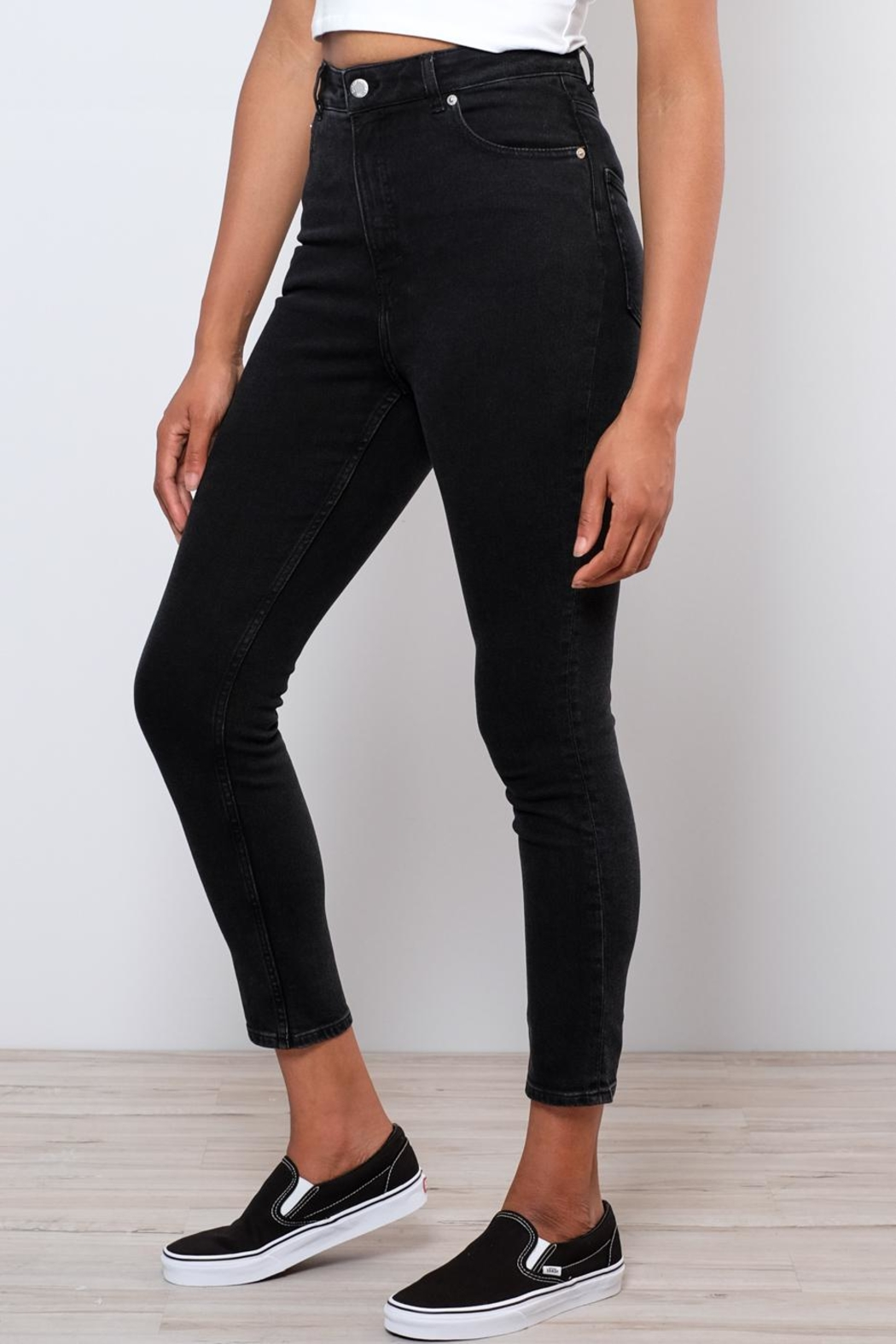 Cheap Monday Donna High Rise Denim - Side Cropped Image