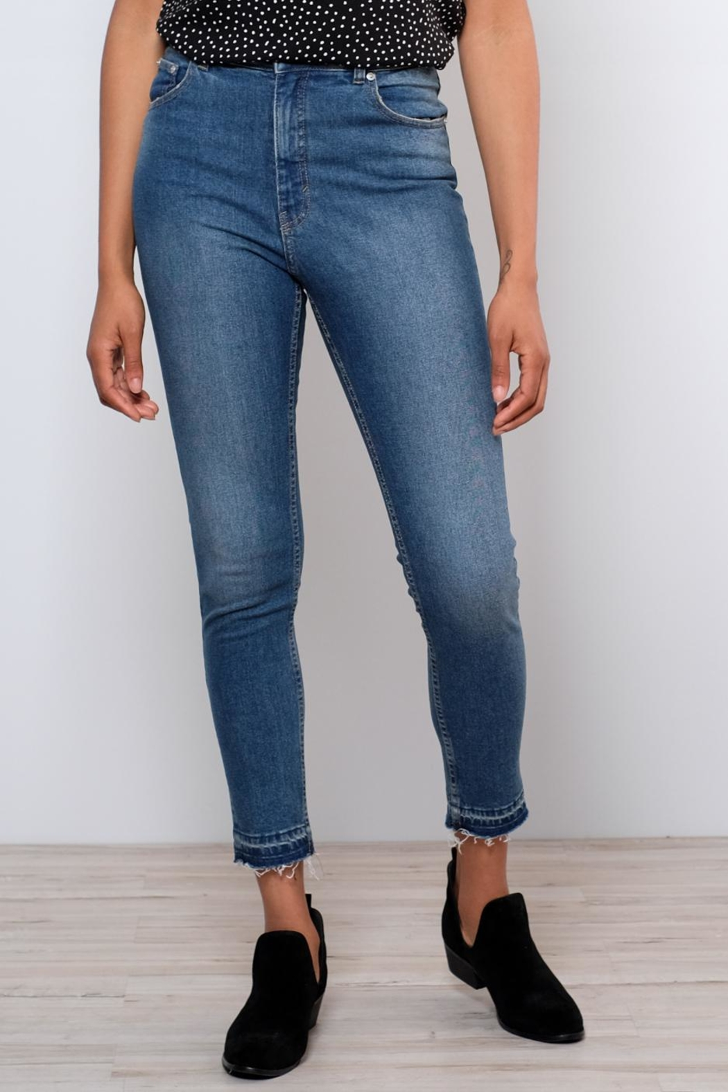 Cheap Monday Drop Hem Skinny Jeans - Front Full Image