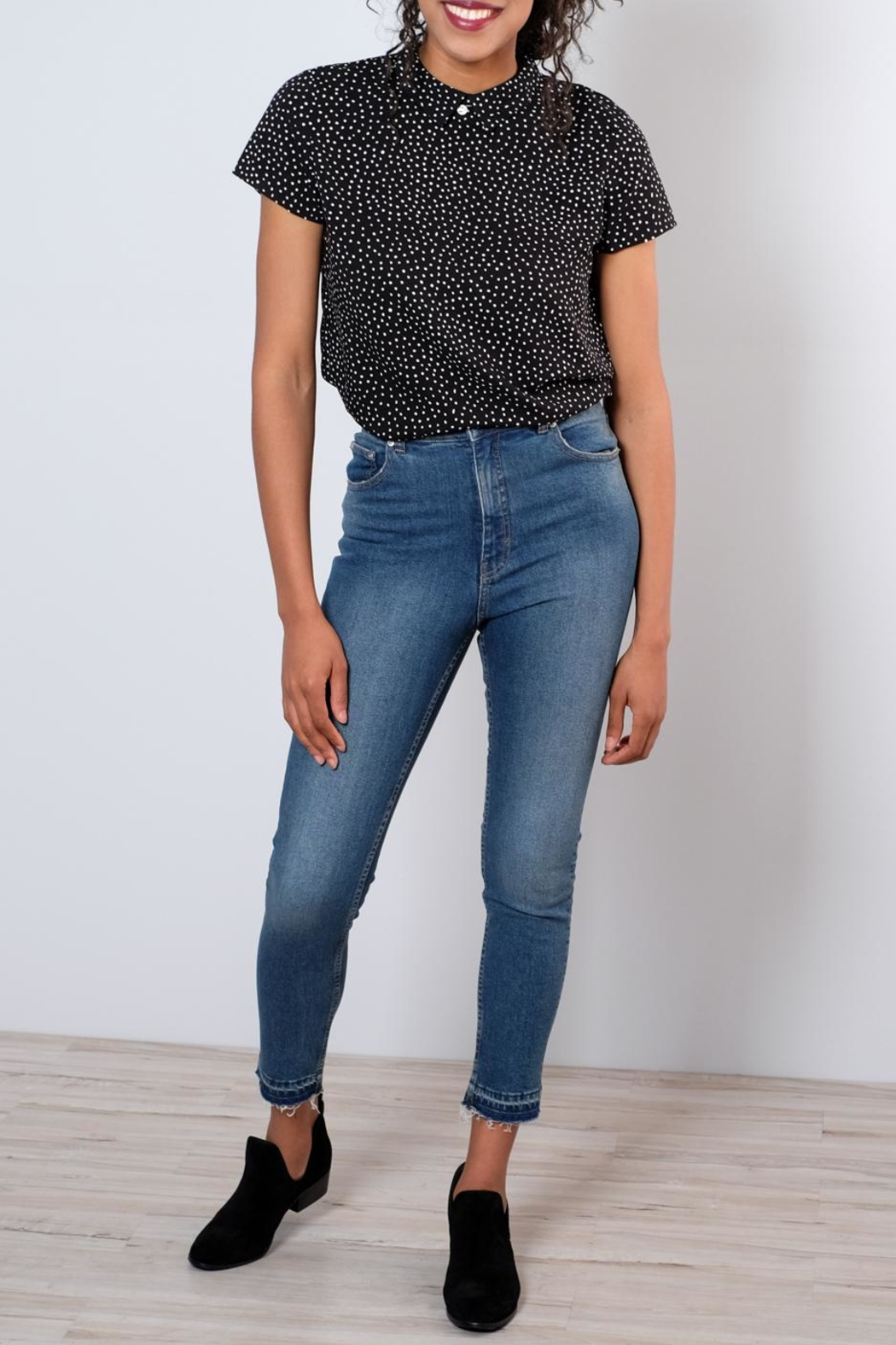 Cheap Monday Drop Hem Skinny Jeans - Back Cropped Image