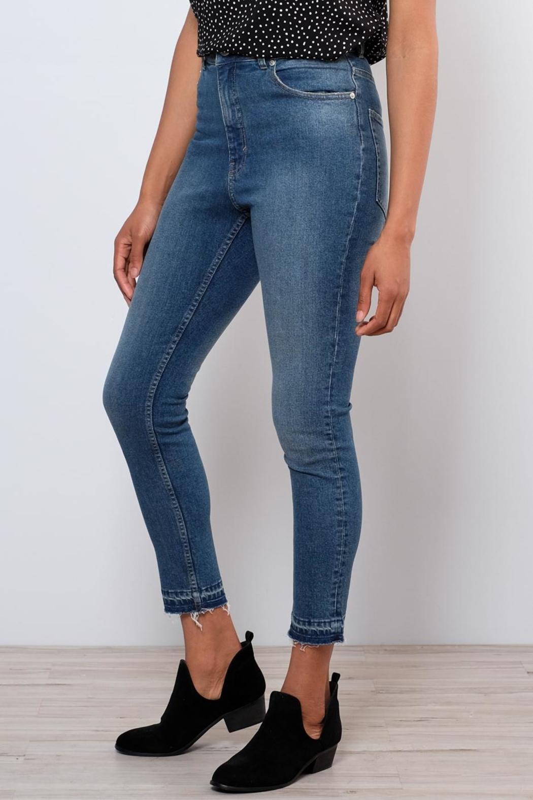 Cheap Monday Drop Hem Skinny Jeans - Main Image