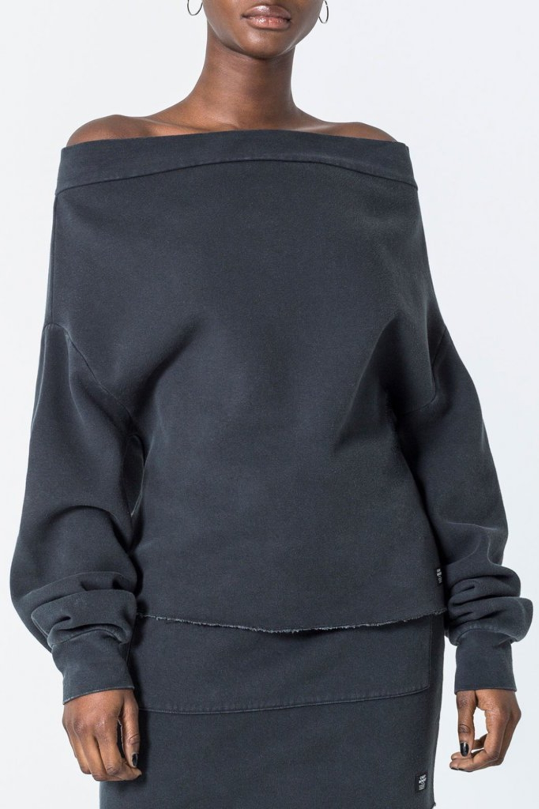 Cheap Monday Off The Shoulder Sweatshirt - Main Image