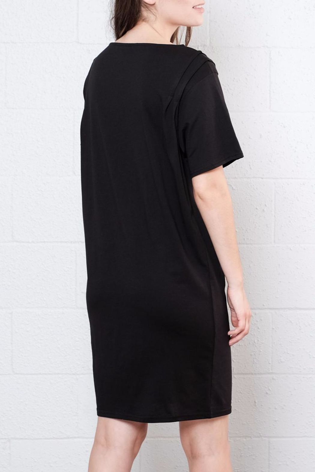 Cheap Monday Pleated Shirt Dress - Back Cropped Image