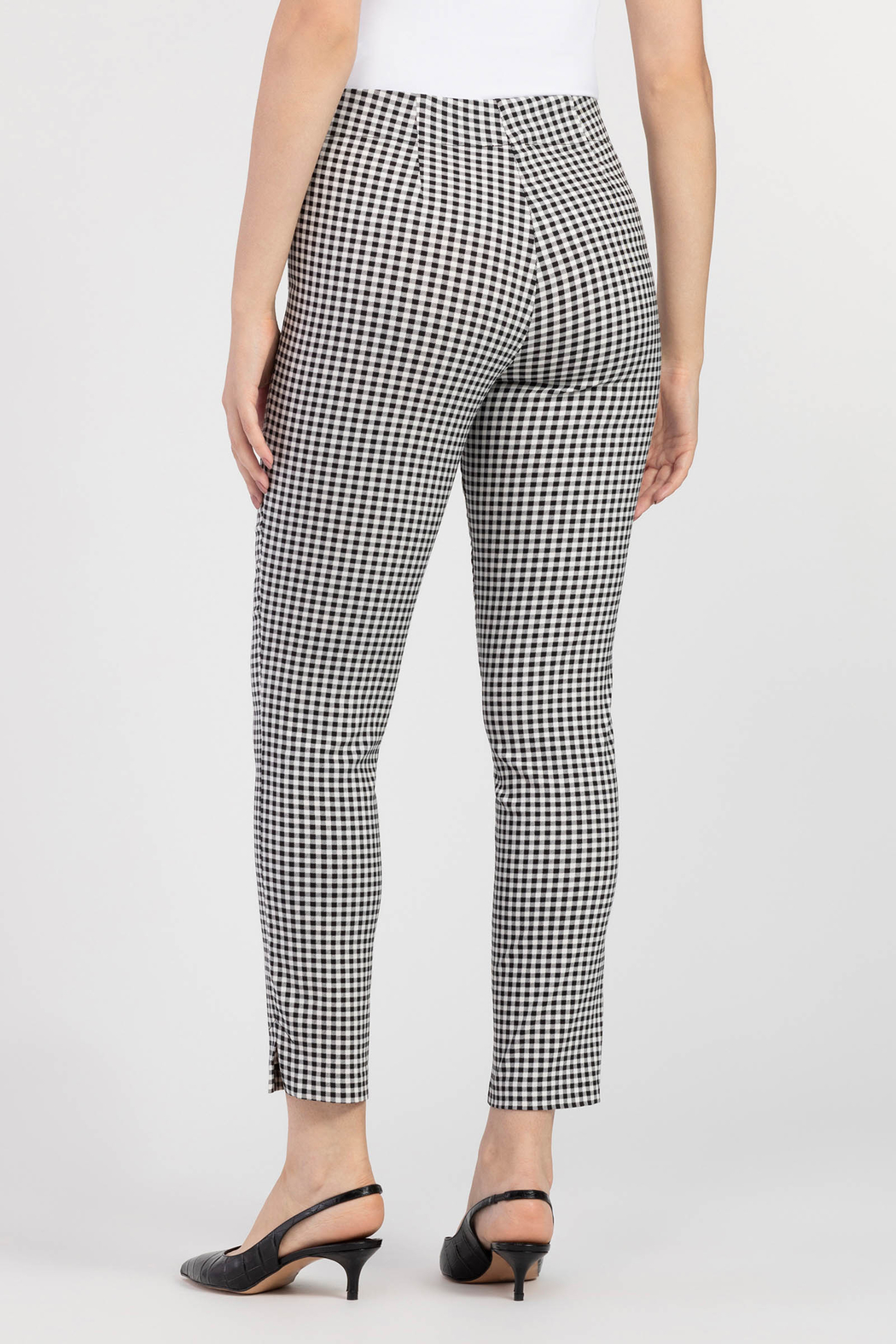 Tribal Check Ankle Pant - Front Full Image