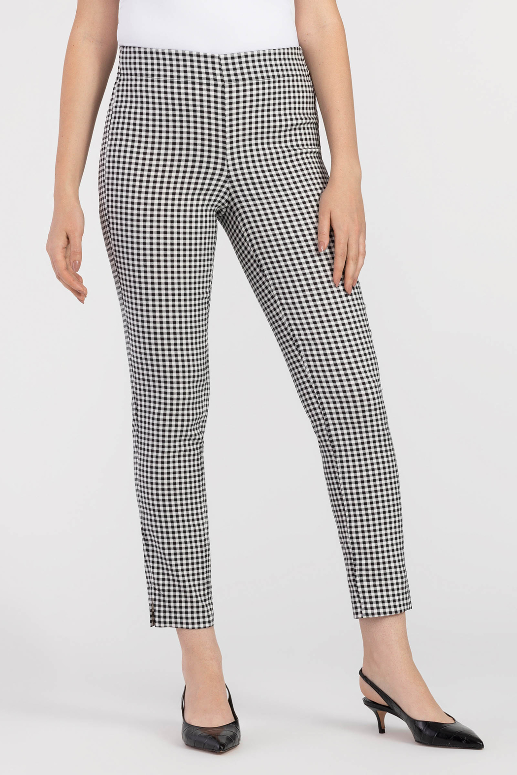 Tribal Check Ankle Pant - Main Image