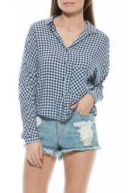 Olive + Oak Check Button Blouse - Product Mini Image