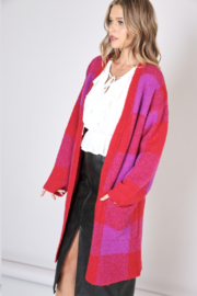Olivaceous Check Cardigan - Product Mini Image