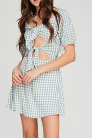 Emory Park Check Cutout Dress - Product Mini Image