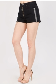 Signature 8 Check Denim Shorts - Product Mini Image