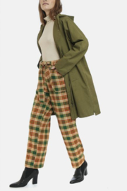 Compania Fantastica Check Flannel Trousers - Product Mini Image