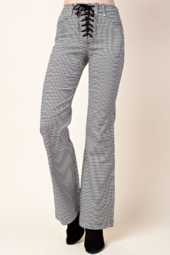 Wild Honey Check Flare Pants - Product List Image