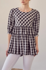 Mustard Seed  Check Me Top - Product Mini Image