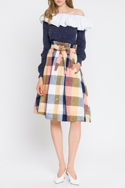 English Factory Check Skirt - Product Mini Image