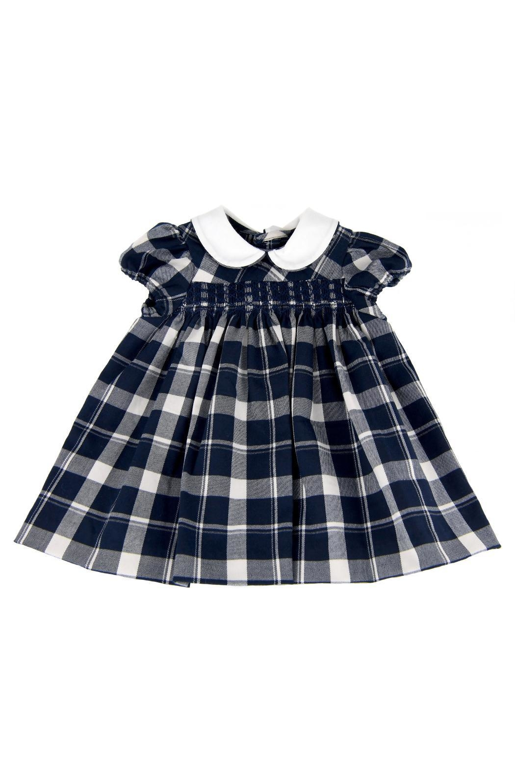 Malvi & Co. Check Smocked Dress. - Main Image