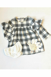 Mud Pie Check Turkey Dress - Front cropped