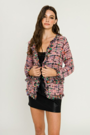 Endless Rose Check Tweed Jacket - Front cropped