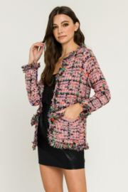 Endless Rose Check Tweed Jacket - Front full body