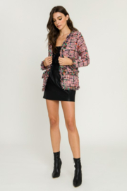 Endless Rose Check Tweed Jacket - Other