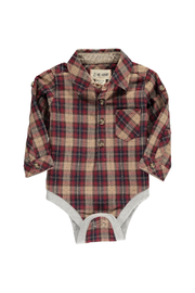 Me & Henry Check Woven Bodysuit - Front cropped